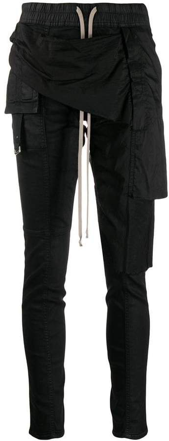 deconstructed wax trousers