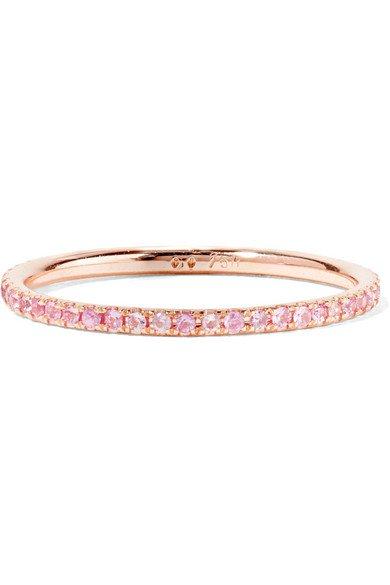 Ileana Makri | Thread 18-karat rose gold sapphire ring | NET-A-PORTER.COM
