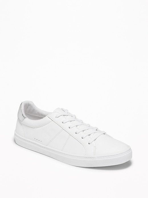 Faux-Leather Sneakers for Women | Old Navy