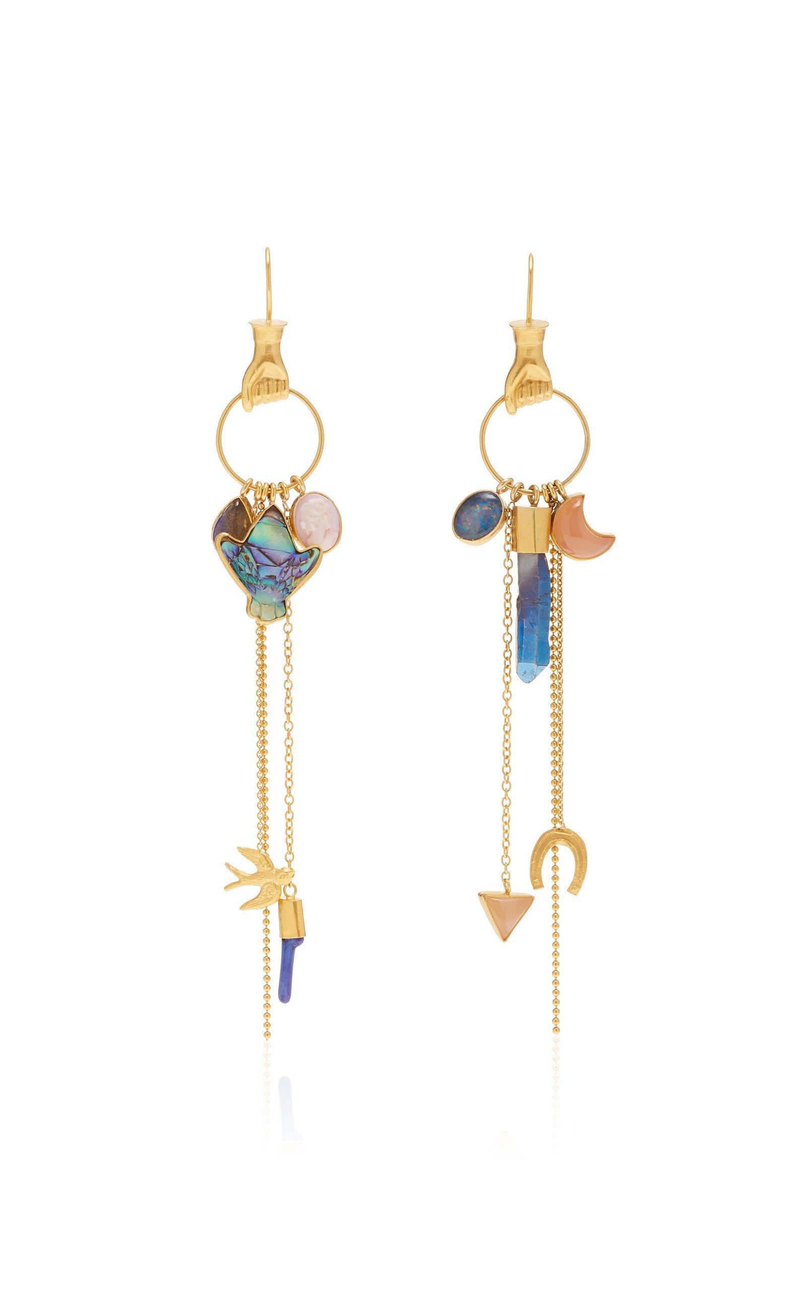 Grainne Morton Multi Charm Drop Earrings