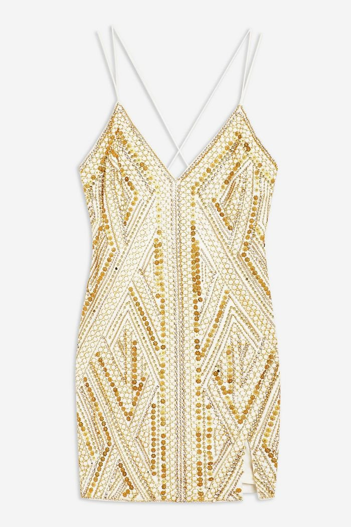 Goldie Embroidered Slip Dress | Topshop