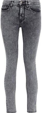 Victoria, Victoria Beckham Distressed Mid-rise Skinny-leg Jeans