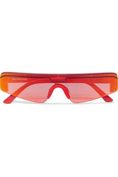 Balenciaga   Ski square-frame acetate mirrored sunglasses   NET-A-PORTER.COM