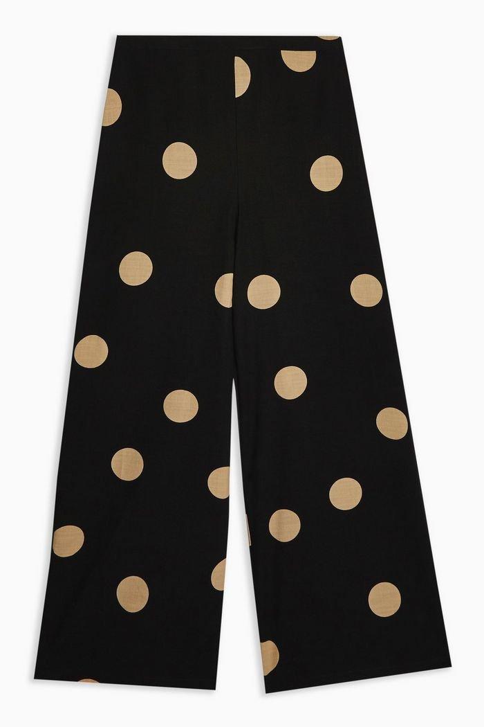 Spot Wide Leg Trousers | Topshop