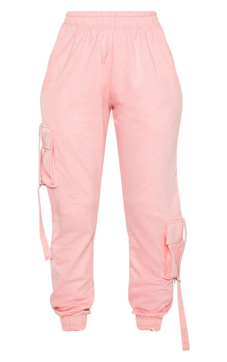Candy Pink Cargo Detail Casual Joggers | PrettyLittleThing
