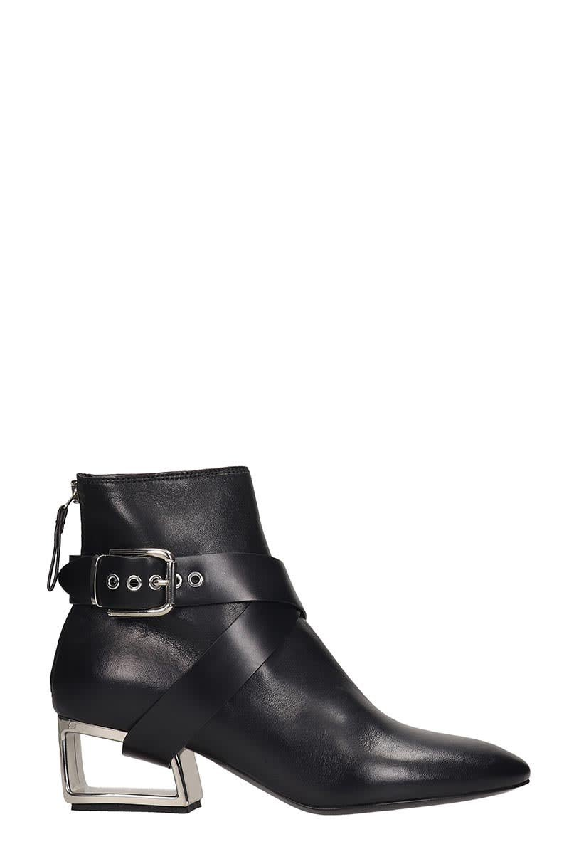 Premiata Ankle Boots In Black Leather