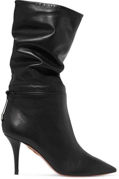 Claudia Schiffer Le Marais Leather Boots - Black
