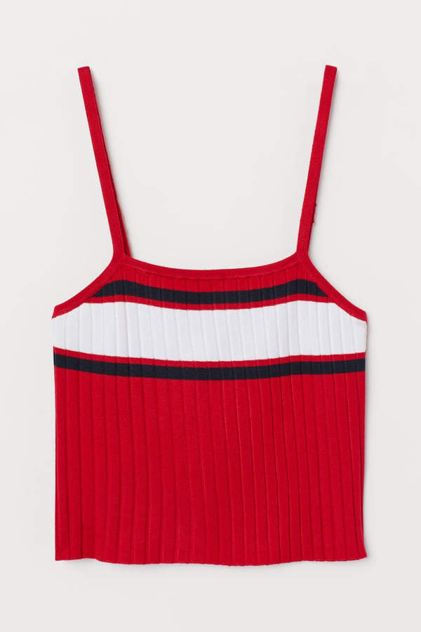 Ribbed Tank Top - Red