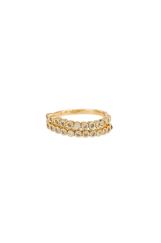 Rhinestone Spiral Ring
