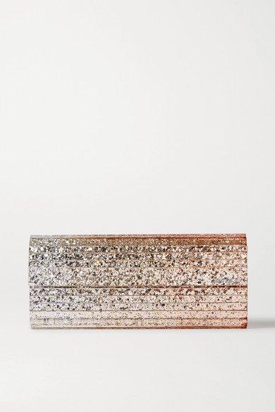 Jimmy Choo   Sweetie glittered acrylic clutch   NET-A-PORTER.COM
