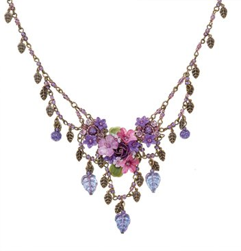 Purple Posies Necklace - GaelSong