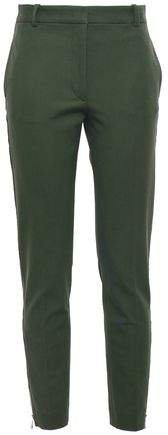 Cropped Stretch-twill Slim-leg Pants