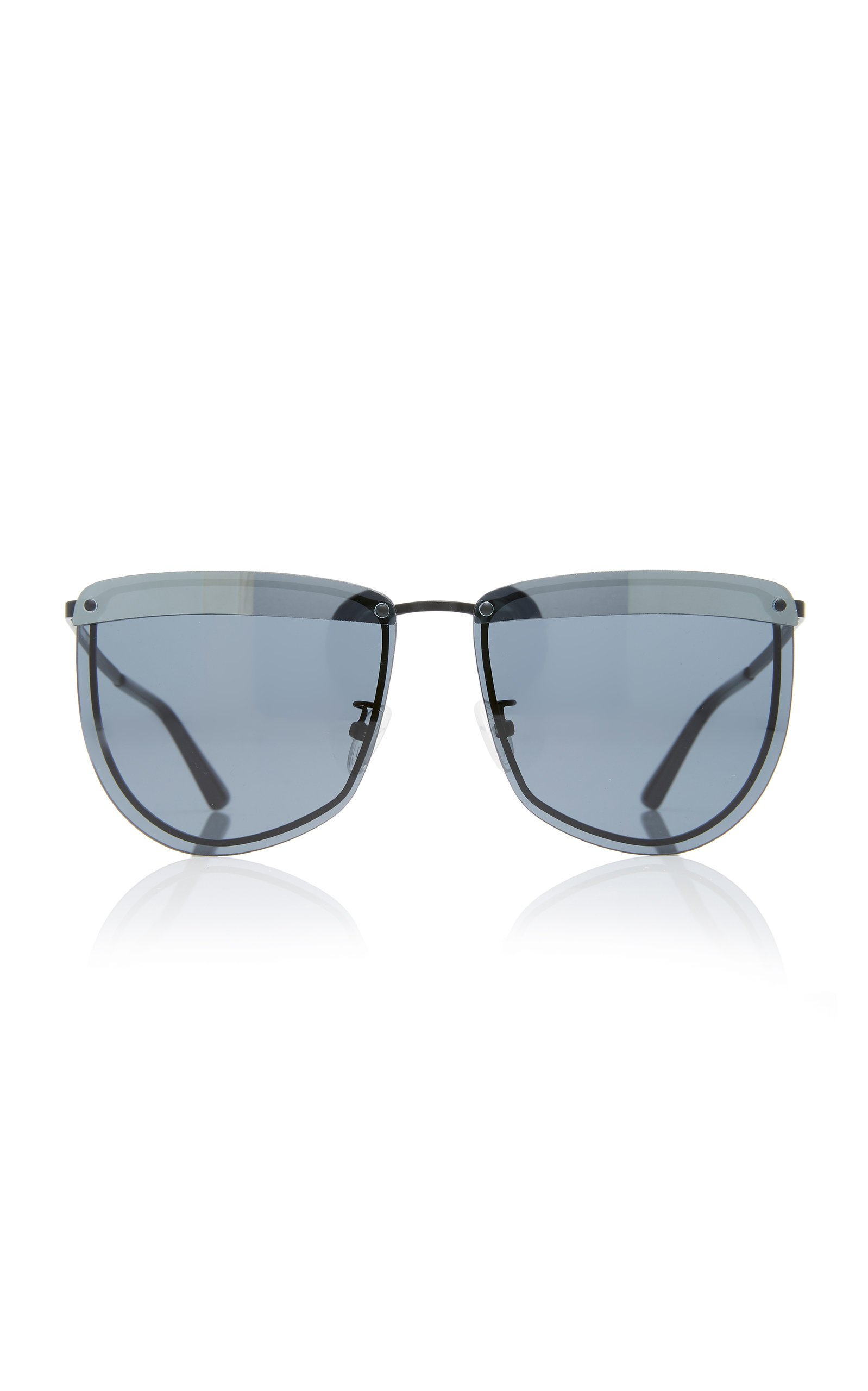 MCQ Sunglasses Rounded Metal Cat-Eye Sunglasses