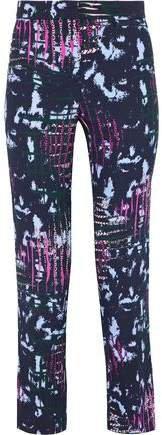 Printed Crepe Straight-leg Pants