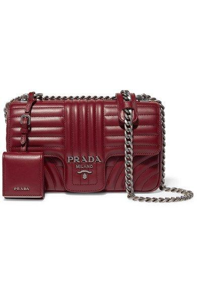 Prada | Diagramme medium quilted leather shoulder bag | NET-A-PORTER.COM
