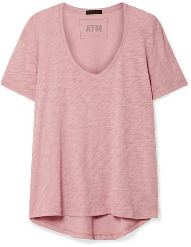 Boyfriend Slub Cotton-jersey T-shirt - Pink