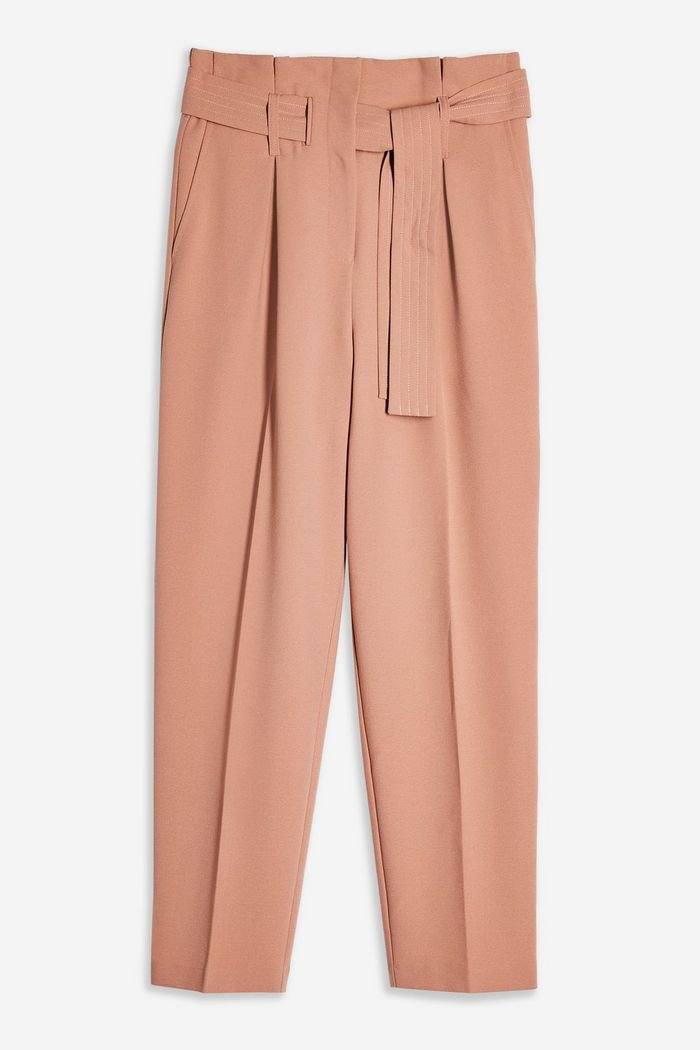 Nude Stitch Belt Peg Trousers | Topshop pink