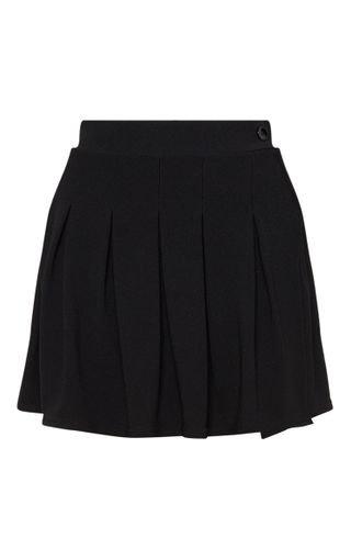 Black Pleated Tennis Skirt   Skirts   PrettyLittleThing