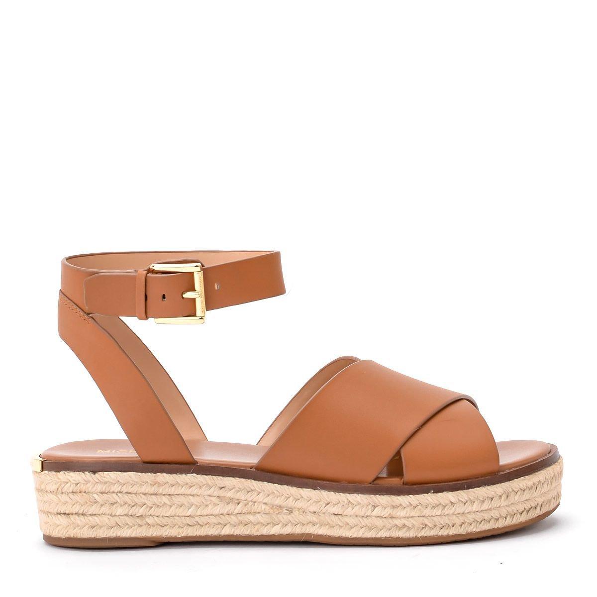 Michael Kors Abbott Acorn Leather Sandal