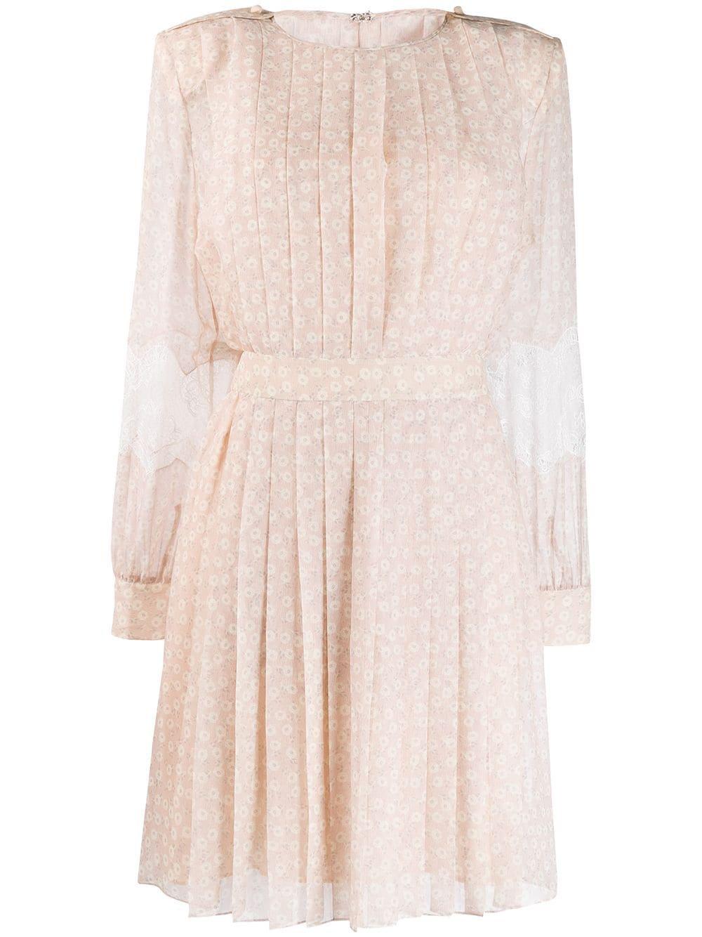 Fendi Lace Flared Pleated Dress | Farfetch.com