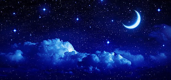 Deep Blue Sky Background, Navy, Blue, Night Background Image for Free Download
