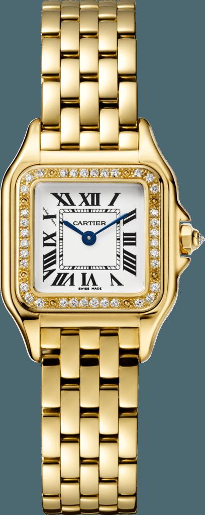 CRWJPN0015 - Panthère de Cartier watch - Small model, yellow gold, diamonds - Cartier