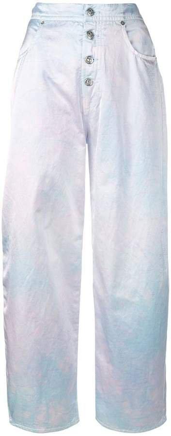 tie-dye wide leg trousers