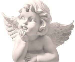 white marble cherub statue angel png filler