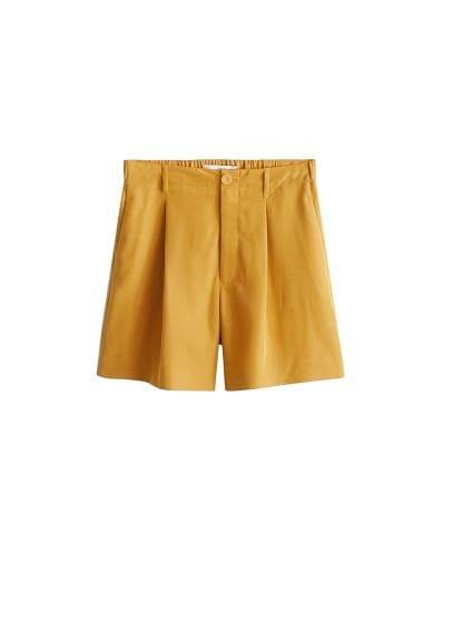 MANGO Flowy pleat shorts
