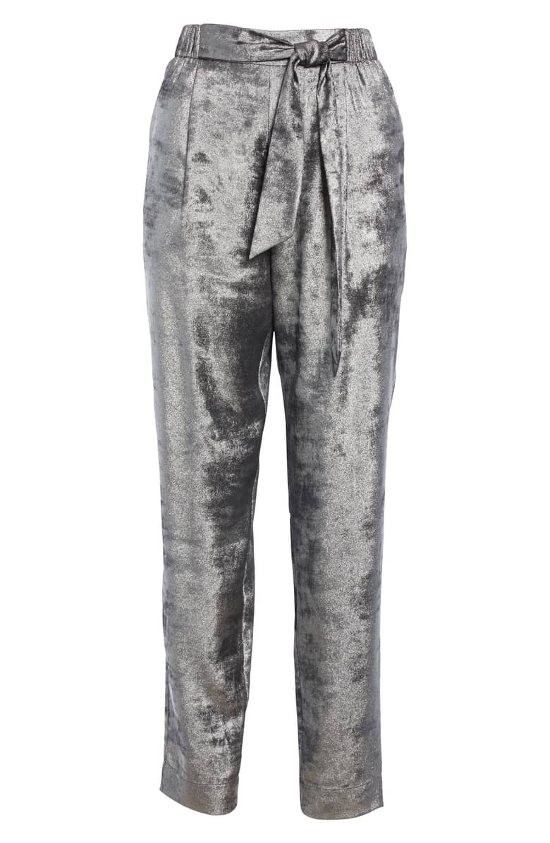 Brochu Walker Nives Metallic Velvet Pants | Nordstrom