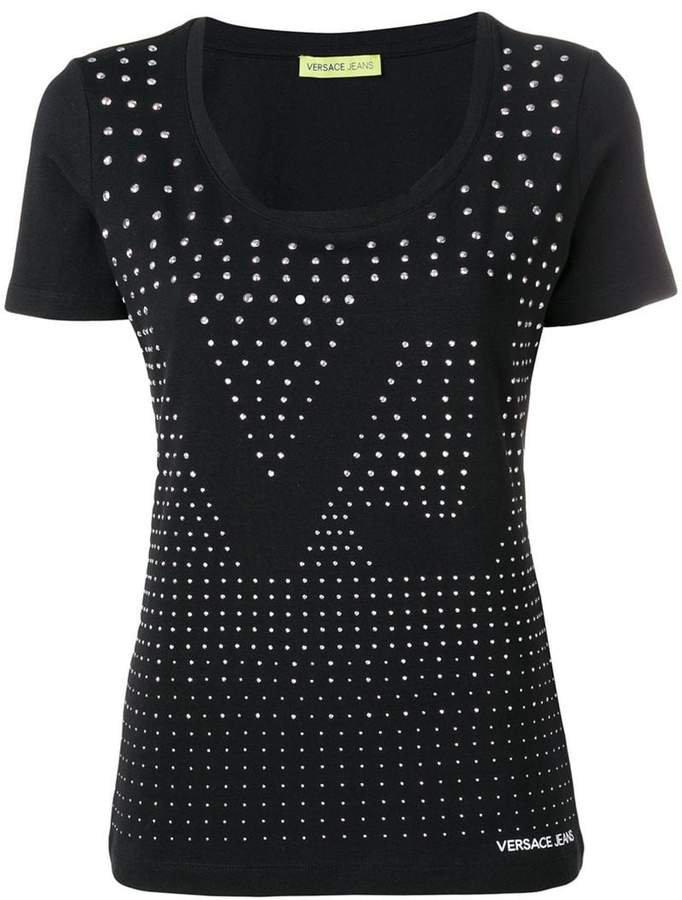 VJ embellished T-shirt