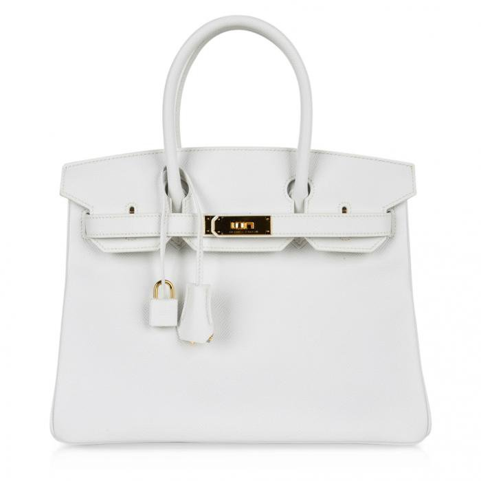 Hermes Birkin Bag 30cm White Epsom Gold Hardware | World's Best