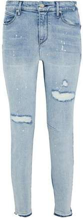 Gypsy Distressed Two-tone Mid-rise Skinny Jeans