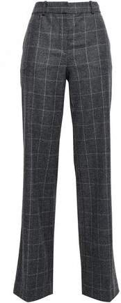 Hagan Checked Wool-blend Wide-leg Pants