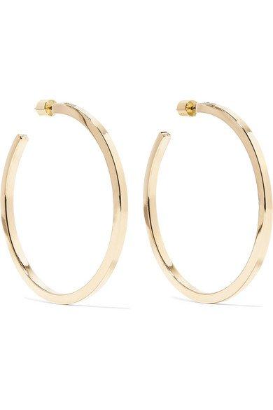Jennifer Fisher   Shane gold-plated hoop earrings   NET-A-PORTER.COM