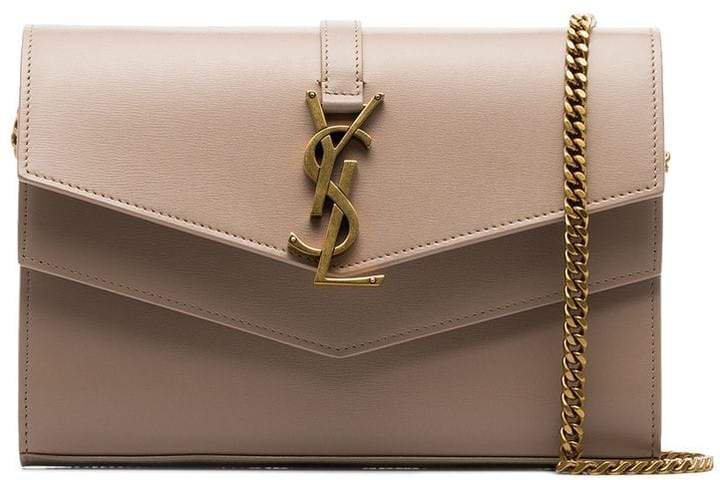 nude Sulpice envelope leather clutch bag
