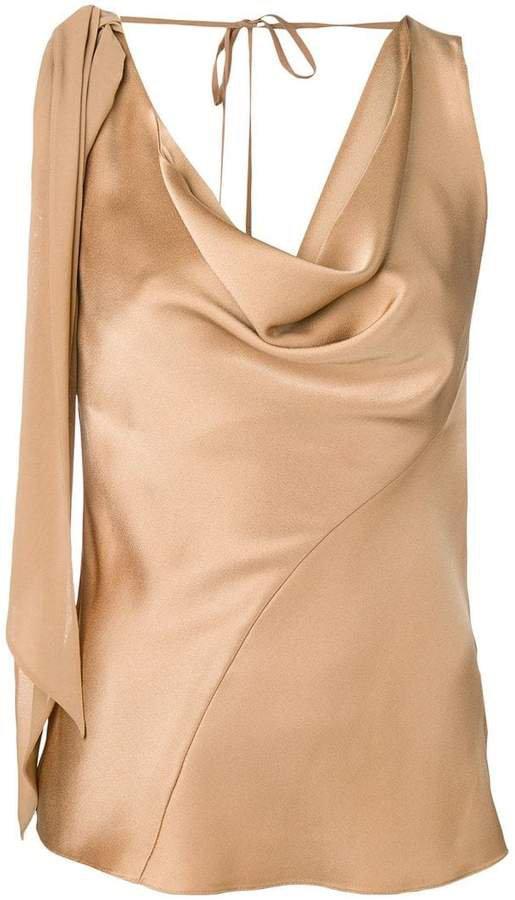 sleeveless draped top
