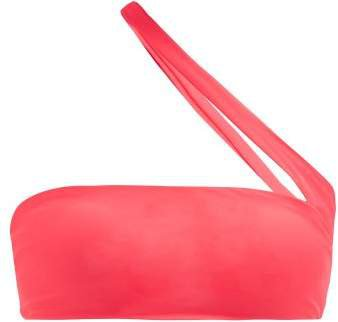 Halo One Shoulder Bandeau Bikini Top - Womens - Pink