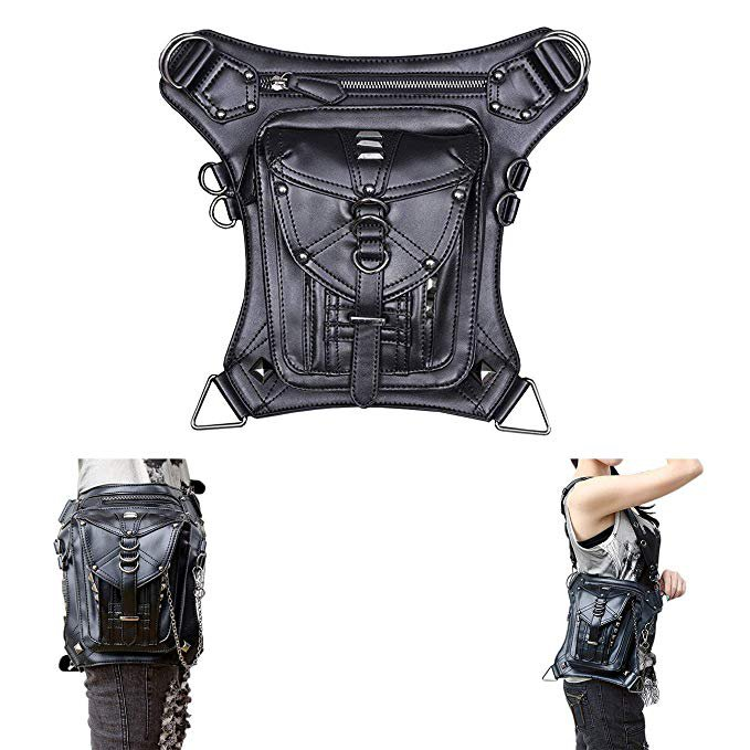 Retro Bag Steam Punk Retro Rock Gothic Goth Shoulder Waist Bags Packs Victorian Style for Women Men + Leg Thigh Holster Bag: Amazon.fr: Cuisine & Maison