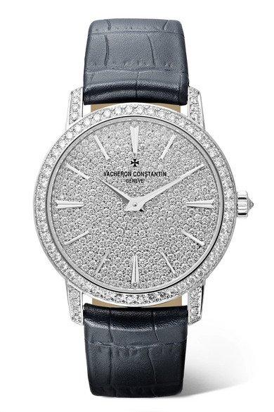 Vacheron Constantin | Traditionelle 33mm small 18-karat white gold, alligator and diamond watch | NET-A-PORTER.COM