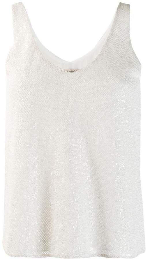 Blanca sleeveless flared top