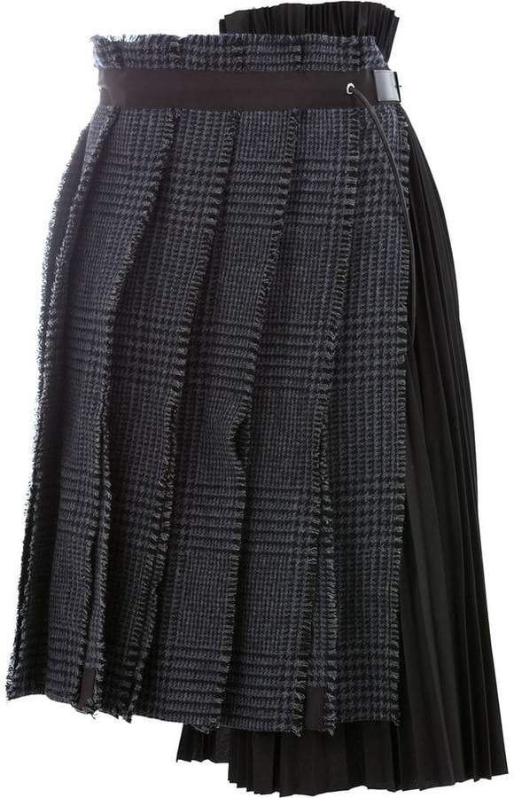 deconstructed pleated skirt