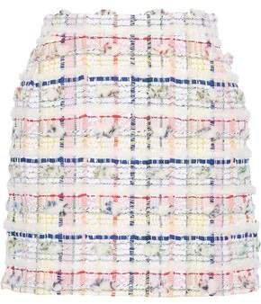 Metallic Cotton-blend Boucle-tweed Mini Skirt