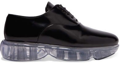 Cloudbust Leather And Rubber Sneakers - Black