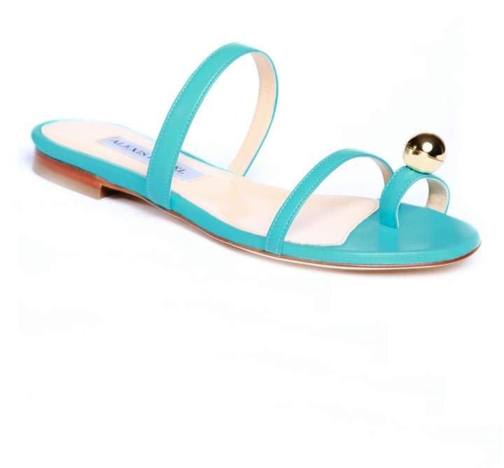 Alexis Isabel - Felixa Turquoise Blue Leather Sandal