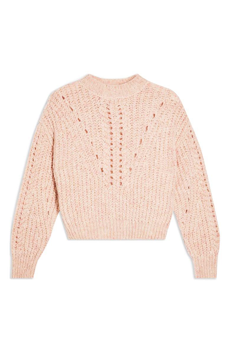 Topshop Textured Pointelle Sweater | Nordstrom