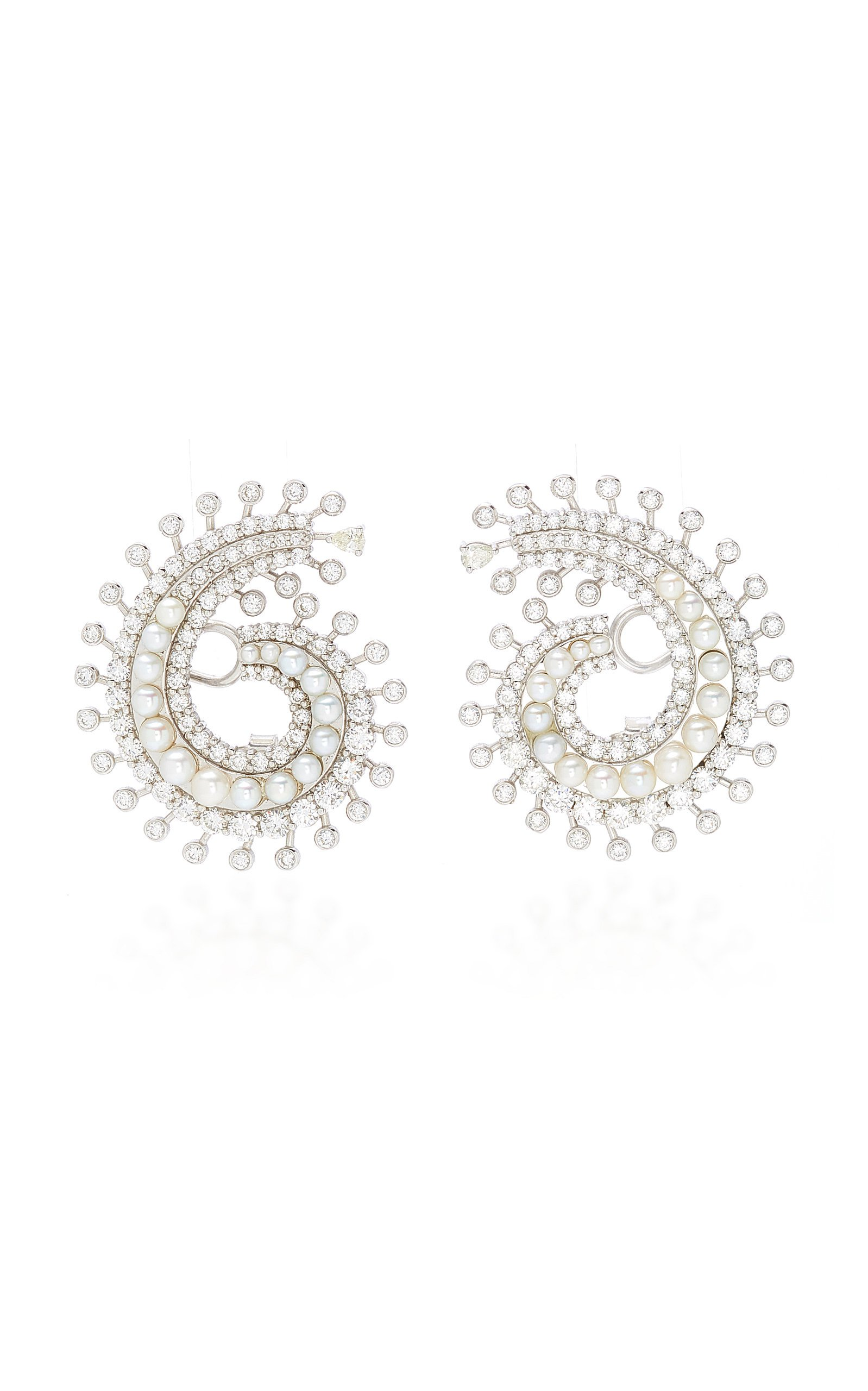 Colette Jewelry Pearl And Diamond Earrings