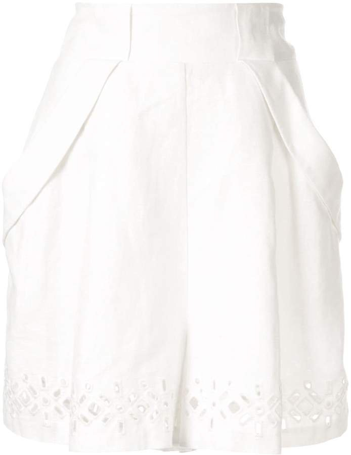 Aje relaxed-fit embroidered shorts
