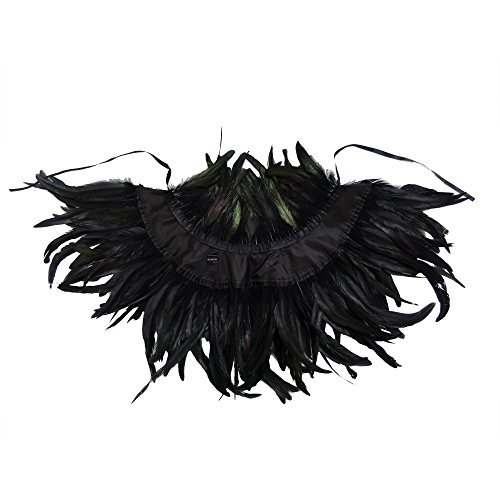 Goth / Gothic Feather Shawl / Cape / Collar