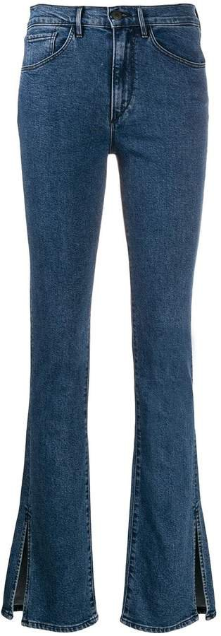 High-Rise Ankle-Slit Jeans